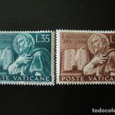 Sellos: VATICANO 1954 IVERT 205/6 *** 16º CENTENARIO DEL NACIMIENTO DE SAN AGUSTIN. Lote 190635622