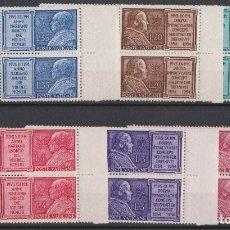 Sellos: VATICANO 1954 IVERT 194/9 *** AÑO MARIANO - PAPAS PIO IX Y PIO XII. Lote 167235652