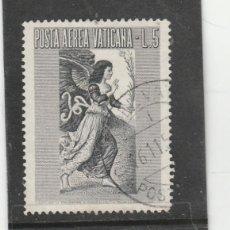 Sellos: VATICANO, CIUDAD DEL 1956 - YVERT NRO. PA 24 - USADO. Lote 167507248