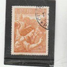 Sellos: VATICANO, CIUDAD DEL 1956 - YVERT NRO. PA 26 - USADO - LEVE MANCHA EN DENTADO INFERIOR. Lote 167507584