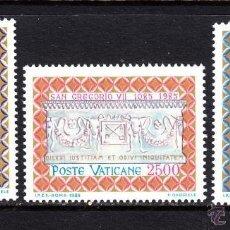 Sellos: VATICANO 1985 IVERT 776/8 *** 9º CENTENARIO DE LA MUERTE DE SAN GREGORIO VII - RELIGIÓN. Lote 174225897