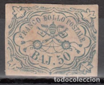 ESTADOS DE LA IGLESIA, 1852-1864 YVERT Nº 10 /*/, BRAZOS PAPALES (Sellos - Extranjero - Europa - Vaticano)
