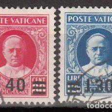 Sellos: VATICANO, 1934 YVERT Nº 60, 61, EFIGIE DEL PAPA PÍO XI. Lote 176372033