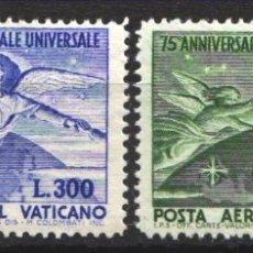 Sellos: VATICANO, AÉREO 1949 YVERT Nº 18 / 19 /**/, ANIVERSARIO DE LA U,P.U, SIN FIJASELLOS. Lote 179115771