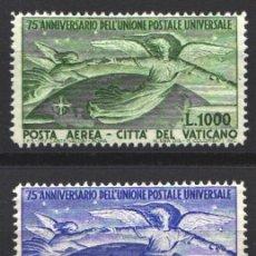 Sellos: VATICANO, AÉREO 1949 YVERT Nº 18 / 19 /**/, ANIVERSARIO DE LA U,P.U, SIN FIJASELLOS. Lote 179115781