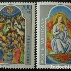 Sellos: VATICANO 1978 - LA ASUNCION - YVERT Nº 636/637**. Lote 179315438