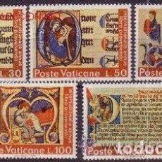 Sellos: VATICANO 1972 - AÑO INTERNACIONAL DEL LIBRO - YVERT Nº 542/546**. Lote 179316117