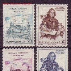 Sellos: VATICANO 1973 - NICOLAS COPERNICO - YVERT Nº 558/561**. Lote 179317788
