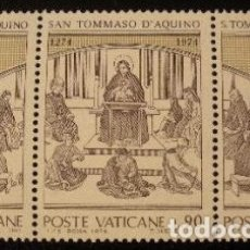 Sellos: VATICANO 1974 - SANTO TOMAS DE AQUINO - YVERT Nº 576/578**. Lote 179318292