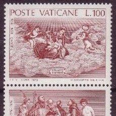 Sellos: VATICANO 1976 - 4º CENTENARIO DE LA MUERTE DE TIZIANO - YVERT Nº 611/612**. Lote 179318802
