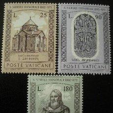 Sellos: VATICANO 1973 - SAN NERSES SHNORALI - YVERT Nº 566/558**. Lote 179320118