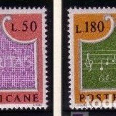 Sellos: VATICANO 1972 - PERSONAJES - MUSICA - YVERT Nº 547/548**. Lote 179320918
