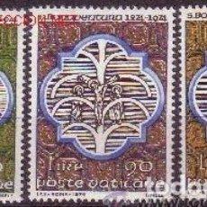 Sellos: VATICANO 1974 - SAN BUENAVENTURA - YVERT Nº 579/581**. Lote 179323811