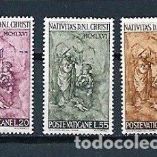 Sellos: VATICANO,1966,NAVIDAD,YVERT 463-465,NUEVOS,MNH**. Lote 179546867