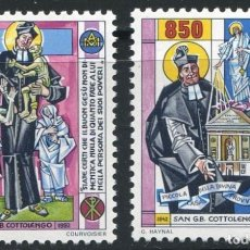 Sellos: VATICANO 1992 - SAN GUISEPPE BENEDETTO COTTOLENGO - YVERT Nº 924/925**. Lote 180129057