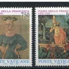 Sellos: VATICANO 1992 - 500 ANIVERSARIO DE PIERO DELLA FRANCESCA - YVERT Nº 926/929**. Lote 180129181