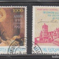 Sellos: VATICANO 1992 - ENCUENTRO POR LA PAZ EN ASIS - YVERT Nº 941 USADO + VIÑETA. Lote 180132075