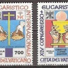 Sellos: VATICANO 1993 - CONGRESO EUCARISTICO EN SEVILLA - YVERT Nº 952/955**. Lote 180134266