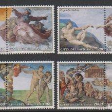Sellos: VATICANO 1994 - FIN DE LA RESTAURACION DE LA CAPILLA SIXTINA - YVERT Nº 969/977**. Lote 180135945