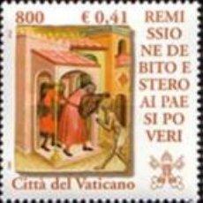 Sellos: VATICANO - 1237/1241 - AÑO 2001 - CONDONACION DE LA DEUDA A LOS PAISES POBRES - NUEVOS. Lote 183667727