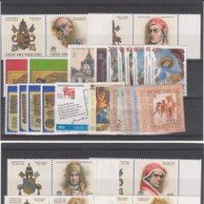 Sellos: VATICANO AÑO COMPLETO 1998 VER FOTOS ADICIONALES . Lote 184378773