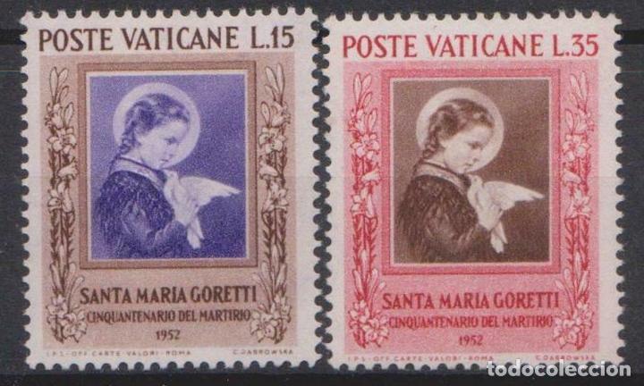 VATICANO 1953 IVERT 174/5 *** 50º ANIVERSARIO DEL MARTIRIO DE STA. MARIA GORETTI (Sellos - Extranjero - Europa - Vaticano)
