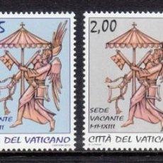 Timbres: VATICANO 2013 - SEDE VACANTE - SERIE DE 4 SELLOS. Lote 188831801
