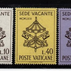 Timbres: VATICANO 380/82** - AÑO 1963 - SEDE VACANTE . Lote 190936907