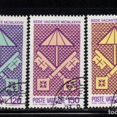 Sellos: VATICANO 656/58 - AÑO 1978 - SEDE VACANTE. Lote 190937583