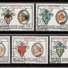Sellos: VATICANO 678/84 - AÑO 1979 - 50º ANIVERSARIO DE LA FUNDACION DE CIUDAD DEL VATICANO. Lote 190937943