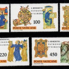 Sellos: VATICANO 689/93** - AÑO 1980 - 15º CENTENARIO DEL NACIMIENTO DE SAN BENITO, PATRÓN DE EUROPA. Lote 190938120