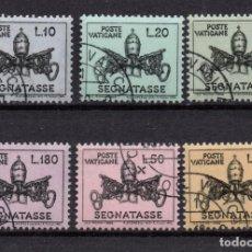 Sellos: VATICANO TASA 19/24 - AÑO 1968 - ESCUDO PONTIFICIO DE PABLO VI. Lote 190941588