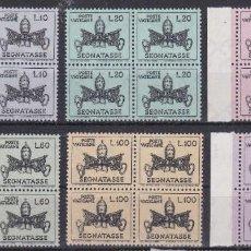 Sellos: LOTE DE BLOQUES DE SELLOS NUEVOS - VATICANO - AHORRA GASTOS COMPRA MAS SELLOS. Lote 192624123