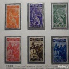 Sellos: POSTE VATICANO IVERT & TELLIER Nº 66, 67, 68, 69, 70, 71 - AÑO 1935 - SERIE COMPLETA. Lote 193865433