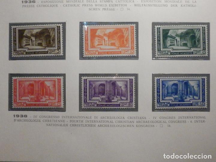 POSTE VATICANE IVERT & TELLIER Nº 80, 81, 82, 83, 84 Y 85 - AÑO 1938 - SERIE COMPLETA (Sellos - Extranjero - Europa - Vaticano)