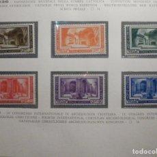 Sellos: POSTE VATICANE IVERT & TELLIER Nº 80, 81, 82, 83, 84 Y 85 - AÑO 1938 - SERIE COMPLETA. Lote 193972713