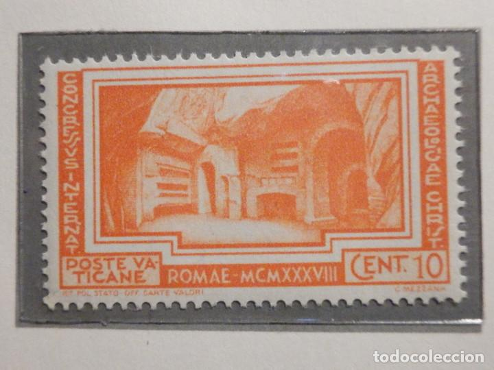 Sellos: POSTE VATICANE IVERT & TELLIER Nº 80, 81, 82, 83, 84 y 85 - AÑO 1938 - SERIE COMPLETA - Foto 3 - 193972713