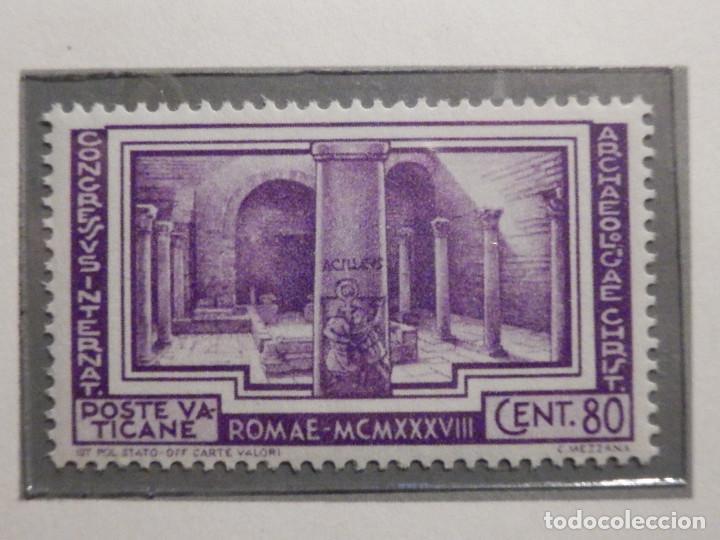Sellos: POSTE VATICANE IVERT & TELLIER Nº 80, 81, 82, 83, 84 y 85 - AÑO 1938 - SERIE COMPLETA - Foto 6 - 193972713