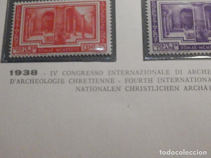 Sellos: POSTE VATICANE IVERT & TELLIER Nº 80, 81, 82, 83, 84 y 85 - AÑO 1938 - SERIE COMPLETA - Foto 8 - 193972713