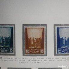 Sellos: POSTE VATICANE IVERT & TELLIER Nº 95, 96 Y 97 - AÑO 1942 - SERIE COMPLETA. Lote 193973971
