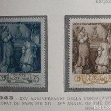 Sellos: POSTE VATICANE IVERT & TELLIER Nº 98, 99 Y 100 Y 101 - AÑO 1943 - SERIE COMPLETA. Lote 193974137