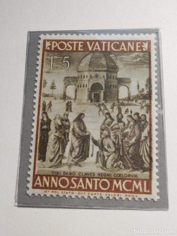 Sellos: POSTE VATICANE IVERT & TELLIER Nº 150 a 157 AÑO 1950 - Año Santo, NUEVOS - Serie completa - Foto 2 - 194095518