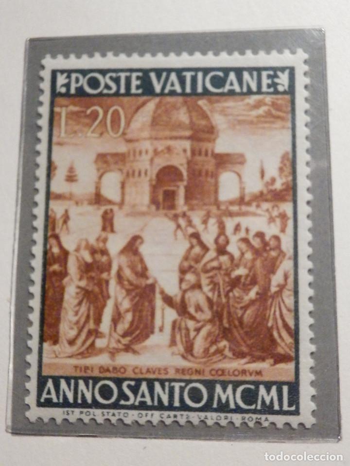Sellos: POSTE VATICANE IVERT & TELLIER Nº 150 a 157 AÑO 1950 - Año Santo, NUEVOS - Serie completa - Foto 6 - 194095518