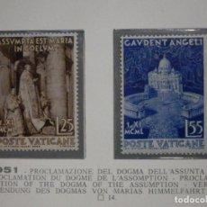 Sellos: POSTE VATICANE IVERT & TELLIER Nº 161 Y 162 - AÑO 1951 - NUEVOS - SERIE COMPLETA. Lote 194096285