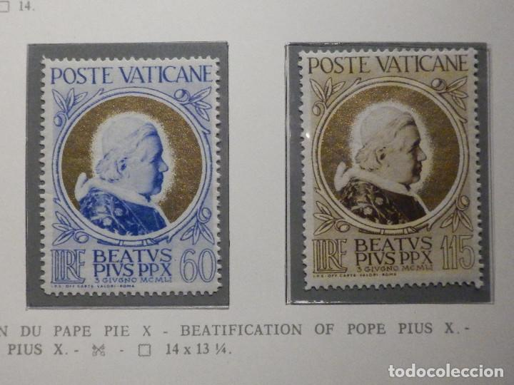 Sellos: POSTE VATICANE IVERT & TELLIER Nº 163,164,165 y 166 - AÑO 1951 - NUEVOS - Serie completa - Foto 2 - 194096342
