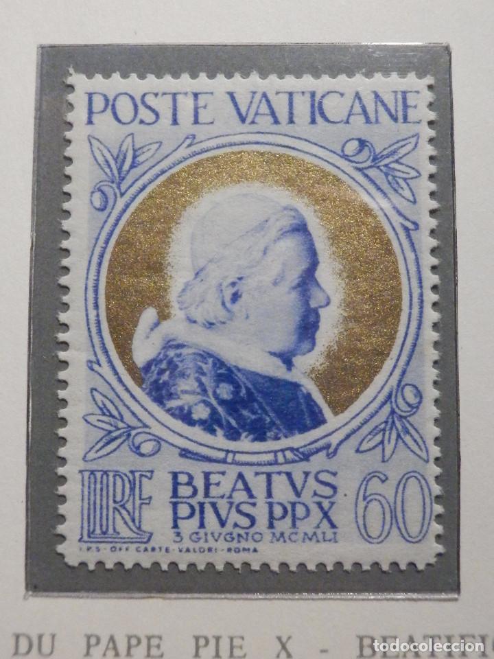 Sellos: POSTE VATICANE IVERT & TELLIER Nº 163,164,165 y 166 - AÑO 1951 - NUEVOS - Serie completa - Foto 6 - 194096342