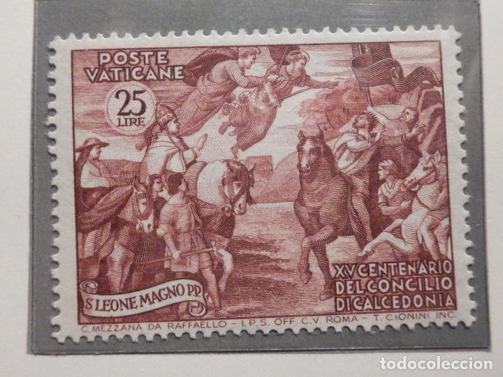 Sellos: POSTE VATICANE IVERT & TELLIER Nº 167,168,169, 170 y 171 - AÑO 1951 - NUEVOS - Serie completa - Foto 3 - 194096367