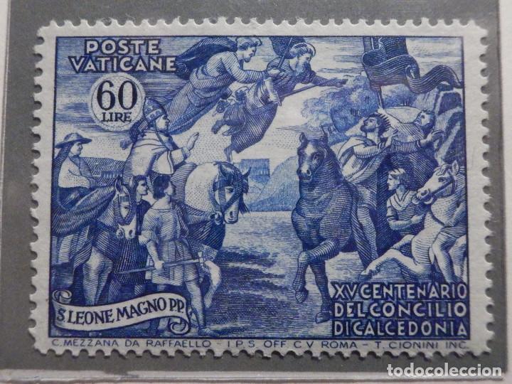 Sellos: POSTE VATICANE IVERT & TELLIER Nº 167,168,169, 170 y 171 - AÑO 1951 - NUEVOS - Serie completa - Foto 5 - 194096367