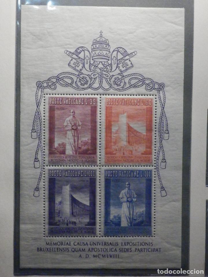 POSTE VATICANE IVERT & TELLIER HB BF Nº 2 - 257 AL 260 - AÑO 1958 - EXPOSICIÓN UNIVERSAL BRUSELAS - (Sellos - Extranjero - Europa - Vaticano)