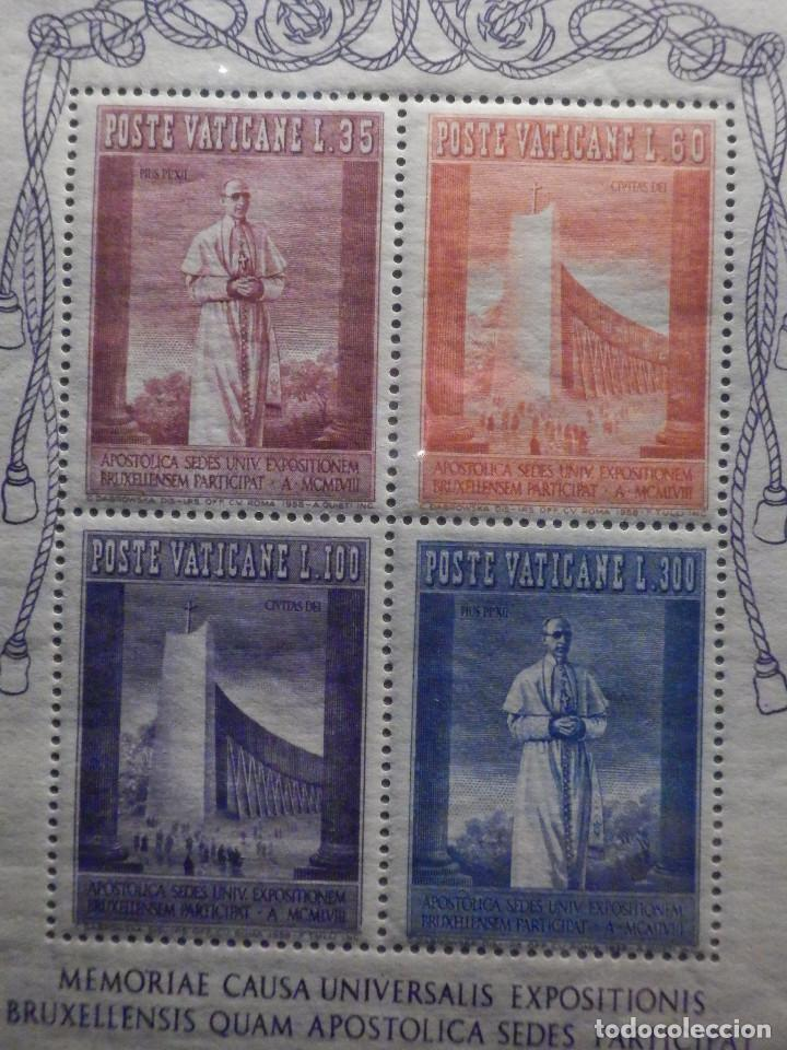 Sellos: POSTE VATICANE IVERT & TELLIER HB BF Nº 2 - 257 al 260 - AÑO 1958 - Exposición Universal Bruselas - - Foto 2 - 194096423
